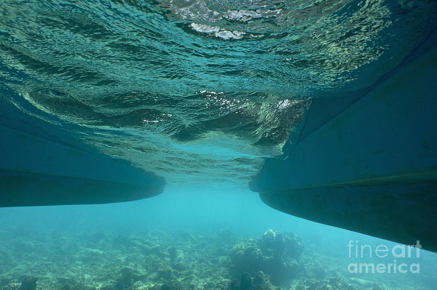 Catamarans Hull Underwater Photograph