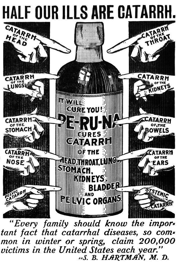 Catarrh Cure For What Ails You C. 1905 Mixed Media