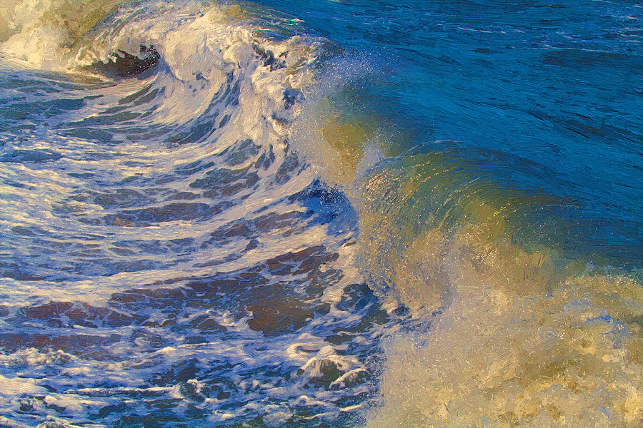 Catch A Wave Painting  - Catch A Wave Fine Art Print
