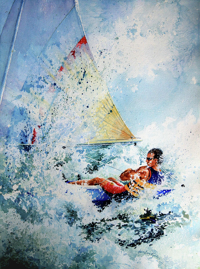 Sailboat Art Painting - Catch The Wind by Hanne Lore Koehler