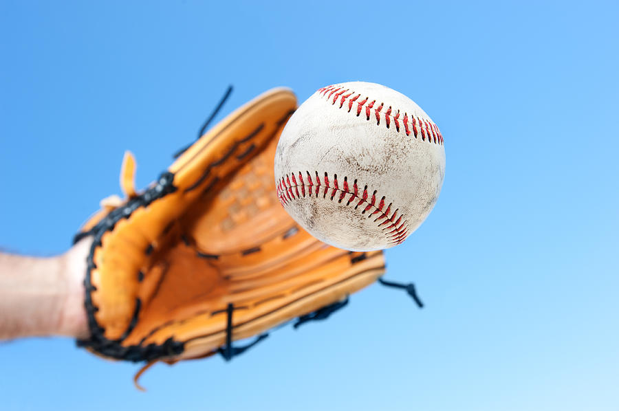 Catching A Baseball Photograph  - Catching A Baseball Fine Art Print