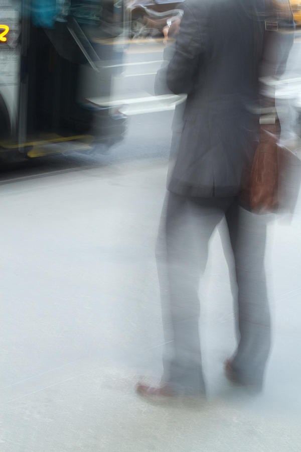 Catching The Bus Photograph  - Catching The Bus Fine Art Print