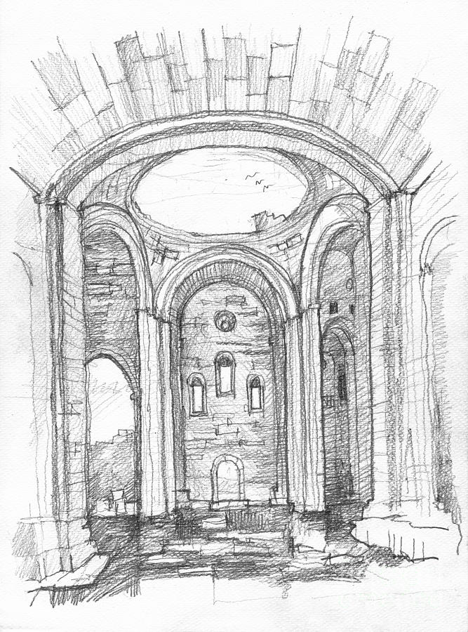 how to draw a cathedral