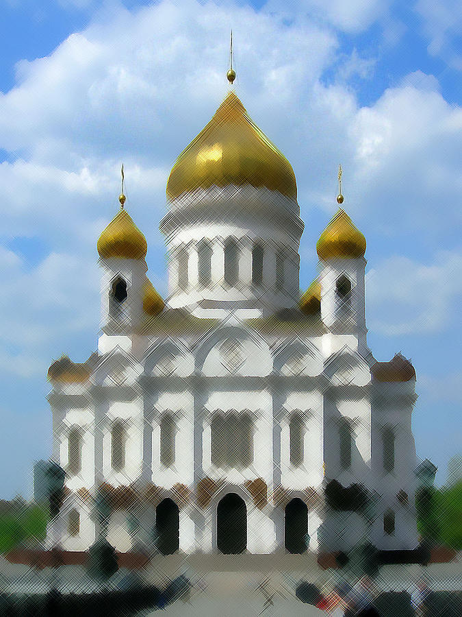 Cathedral Of Christ The Saviour IIi Moscow Digital Art  - Cathedral Of Christ The Saviour IIi Moscow Fine Art Print