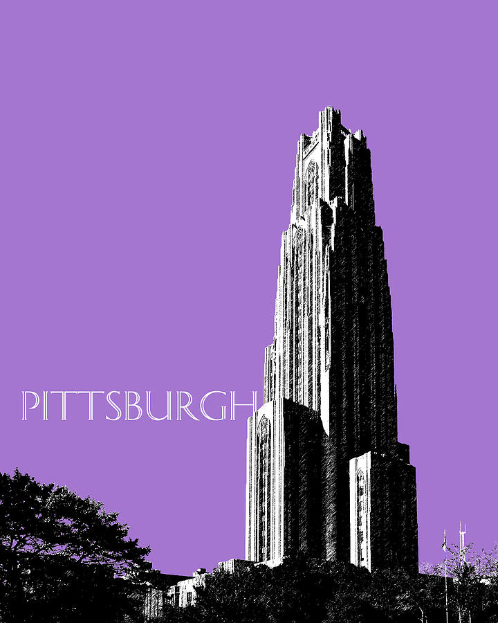 Cathedral Of Learning Digital Art  - Cathedral Of Learning Fine Art Print