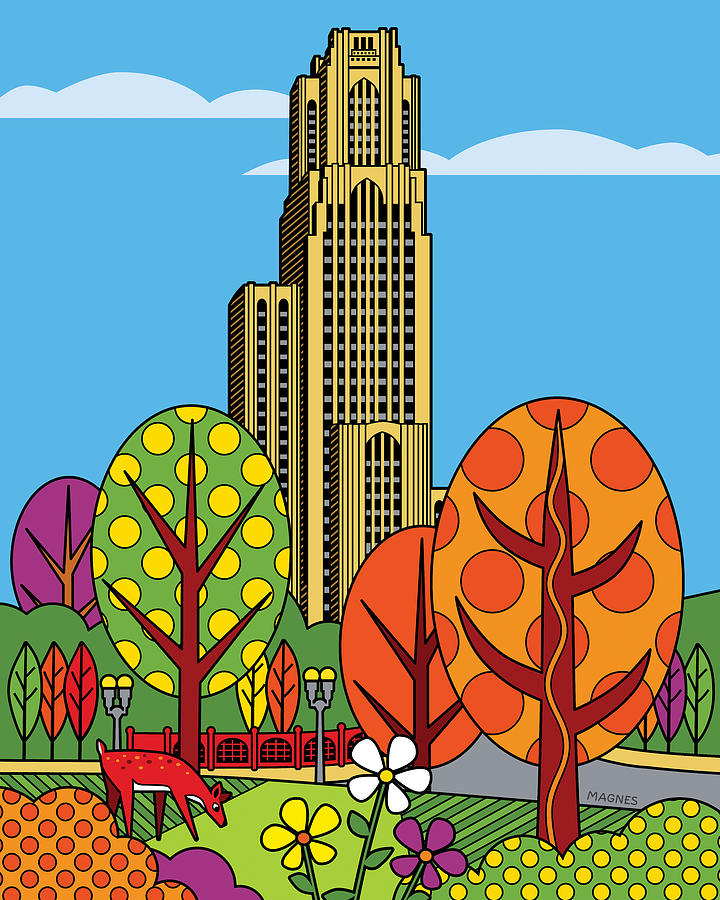 Pittsburgh Digital Art - Cathedral Of Learning by Ron Magnes