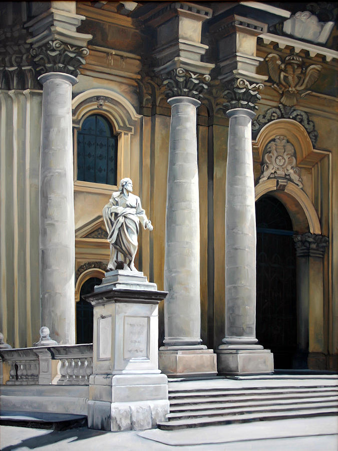 Painting Painting - Cathedral Of Syracuse by Kathleen English-Barrett