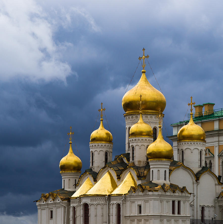 Moscow Photograph - Cathedral Of The Annunciation Of Moscow Kremlin - Square by Alexander Senin