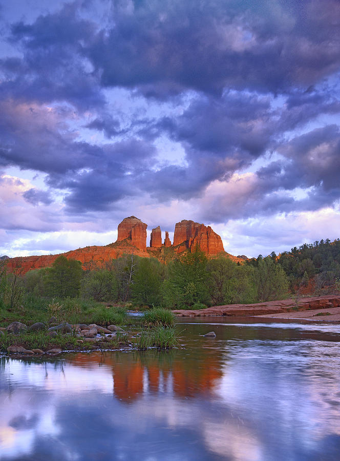 Feb0514 Photograph - Cathedral Rock And Oak Creek At Red by Tim Fitzharris