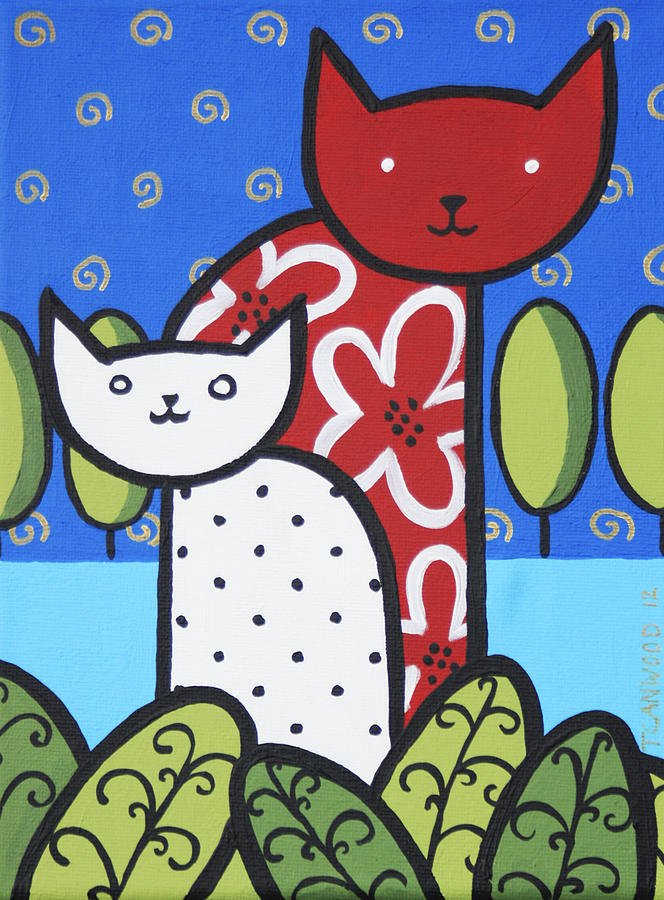 Painting Painting - Cats 1 by Trudie Canwood