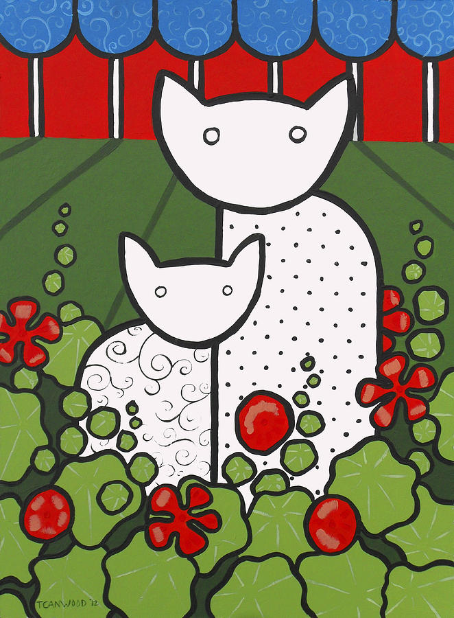 Cats 5 Painting  - Cats 5 Fine Art Print