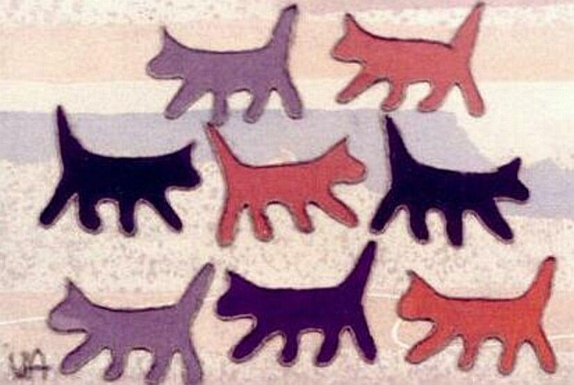 Catscape Mixed Media