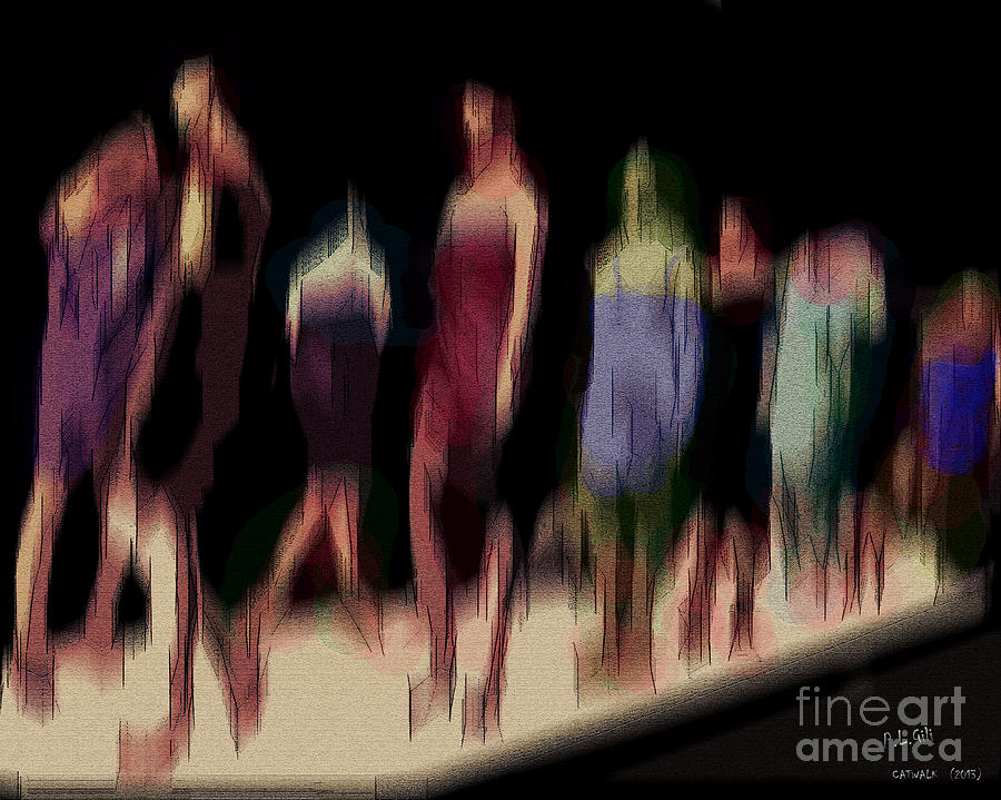 Catwalk Digital Art  - Catwalk Fine Art Print