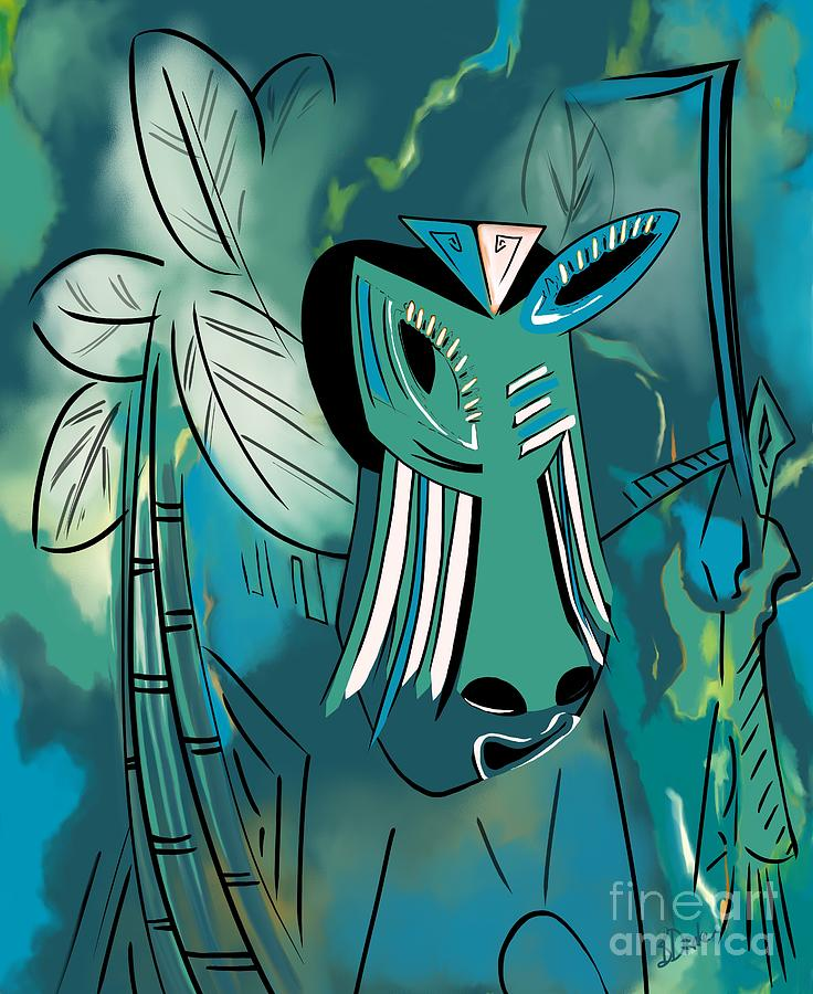 Island Painting - Cavamoru by Barbara Drake