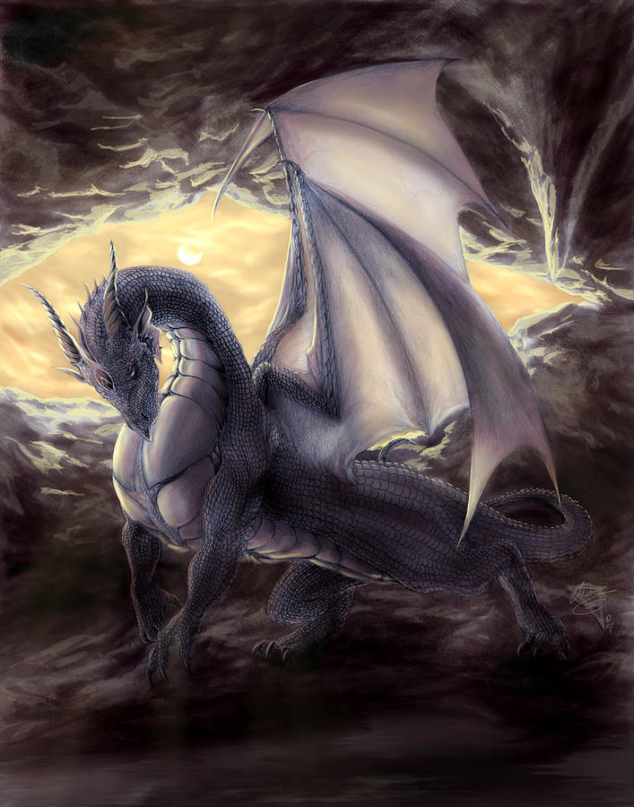 Cave Dragon Painting  - Cave Dragon Fine Art Print