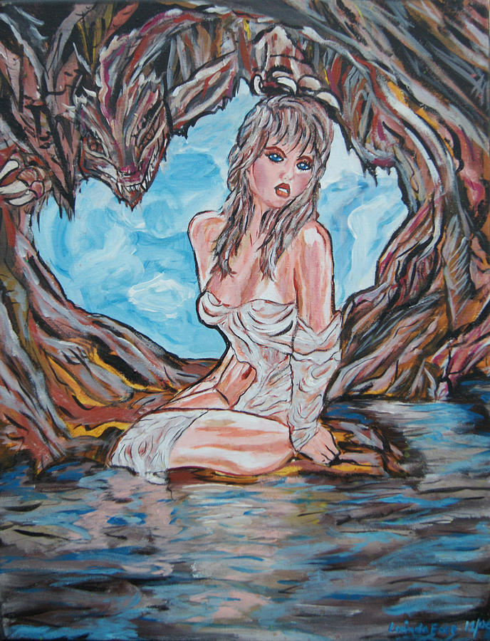 Cave Woman Painting