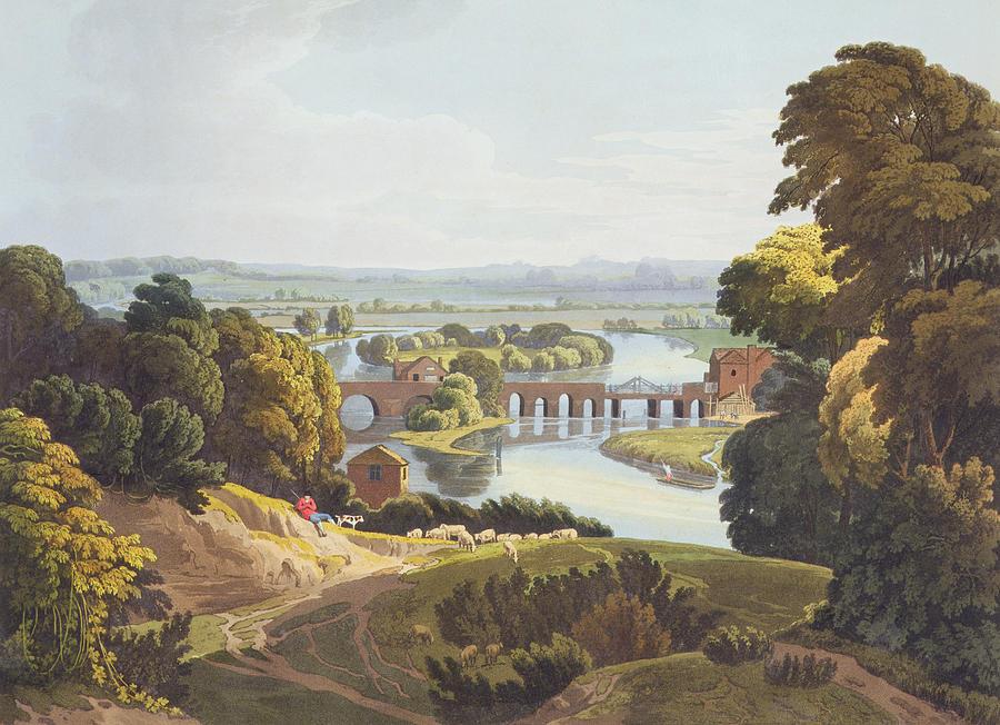 Caversham Bridge, Near Reading Drawing
