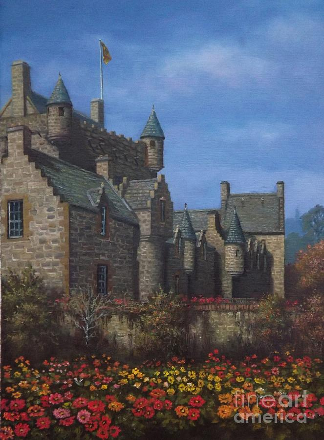 Cawdor Castle In Summertime Painting  - Cawdor Castle In Summertime Fine Art Print