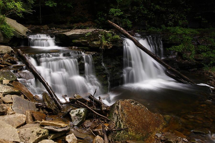 Blur Photograph - Cayuga Waterfalls by David Simons