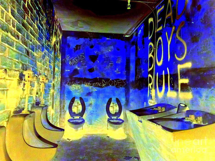 Pop Art Photograph - Cbgbs Notorious Mens Room by Ed Weidman