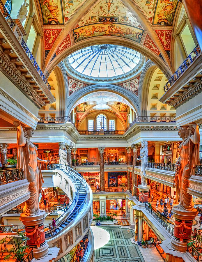 Ceasar's Palace Photograph - Ceasars New Palace by Paul Mashburn