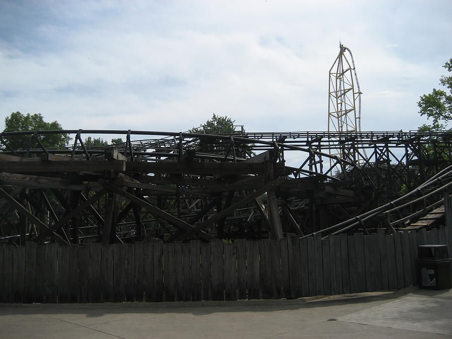 Cedar Point - Cedar Creek Mine Ride - 12121 Photograph  - Cedar Point - Cedar Creek Mine Ride - 12121 Fine Art Print