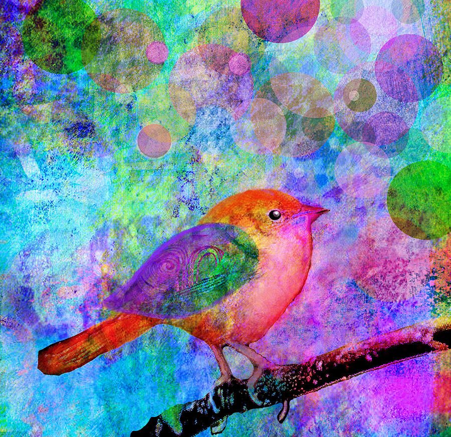 Birds Painting - Celebrate by Robin Mead