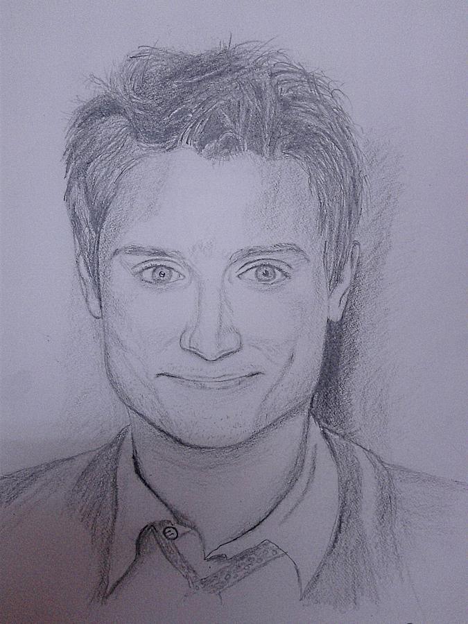Elijah Wood Drawing - Celebrity by Lupamudra Dutta