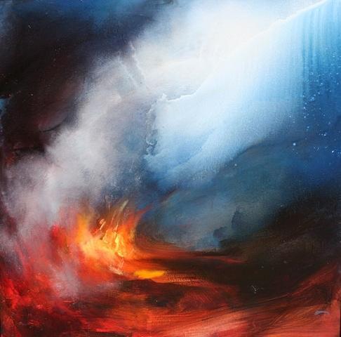 Fire Painting - Celestail Awakenings by Lissa Bockrath