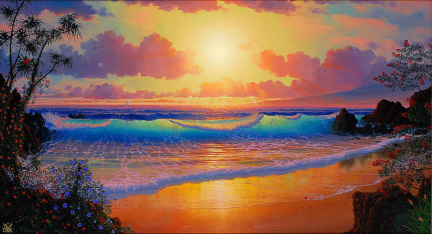 Celestial Shores Painting
