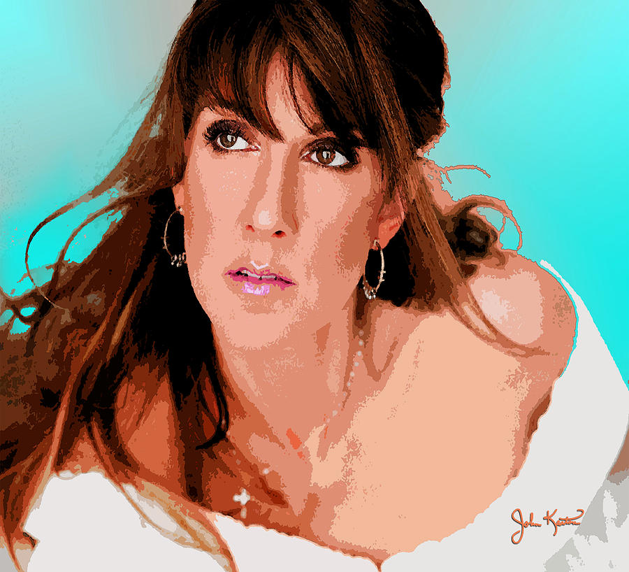 Celine Dion Digital Art
