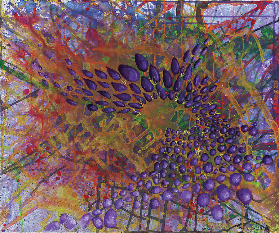Abstract Paintings Painting - Cell No.8 by Angela Canada-Hopkins