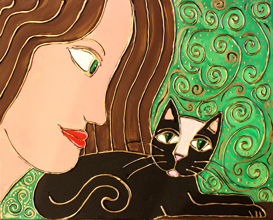 Celtic Cat Painting  - Celtic Cat Fine Art Print