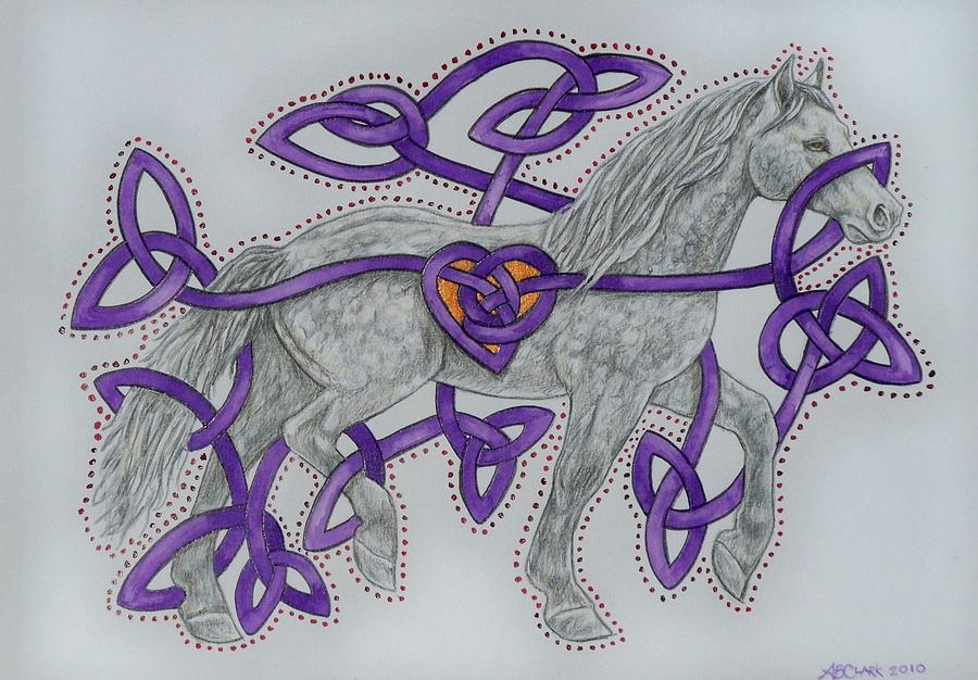 Celtic Equine Heart  Painting