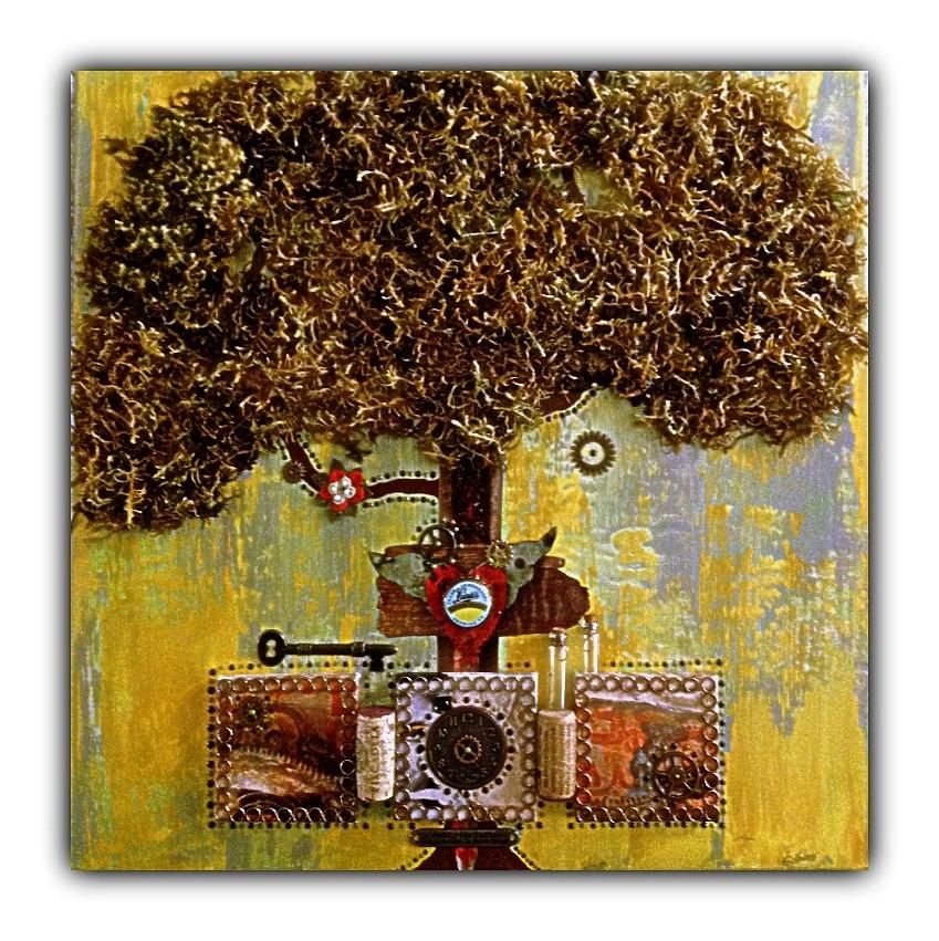 Celtic Tree Of Life Mixed Media