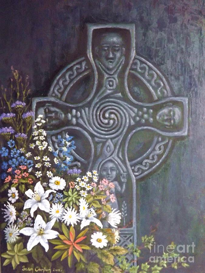 Celtic Wedding Bouquet Painting  - Celtic Wedding Bouquet Fine Art Print