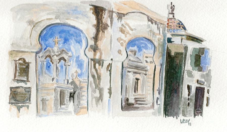 Cemetary Painting - Cementario De La Recoleta by Lauren White