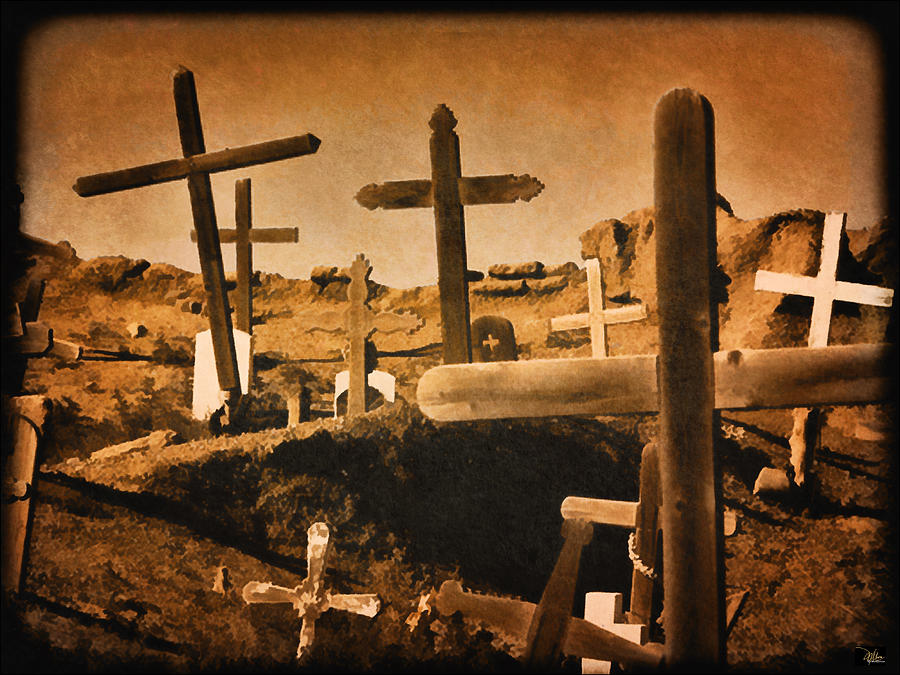 Cemetaries Of New Mexico Painting  - Cemetaries Of New Mexico Fine Art Print