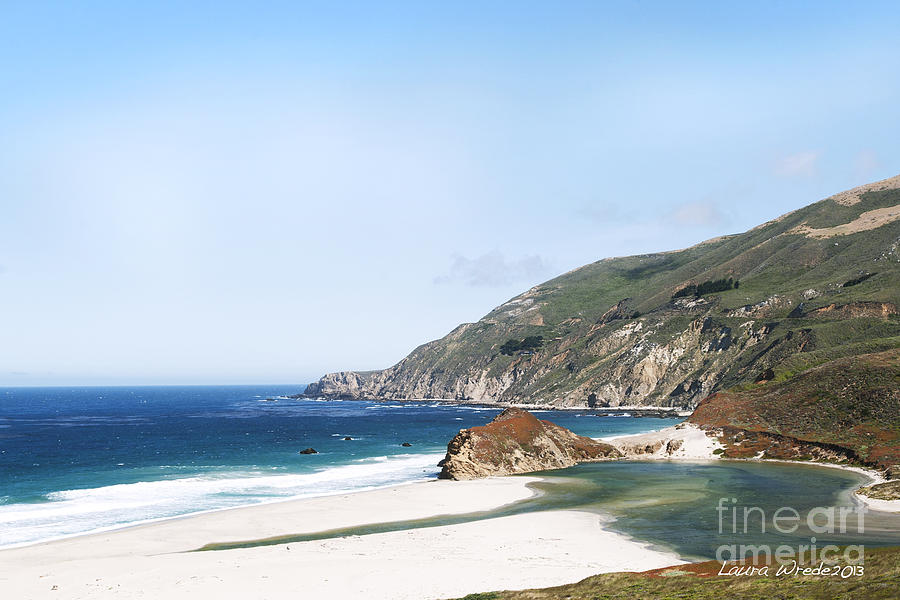 Central Coast Beach Near Cambria And San Simeon Photograph  - Central Coast Beach Near Cambria And San Simeon Fine Art Print