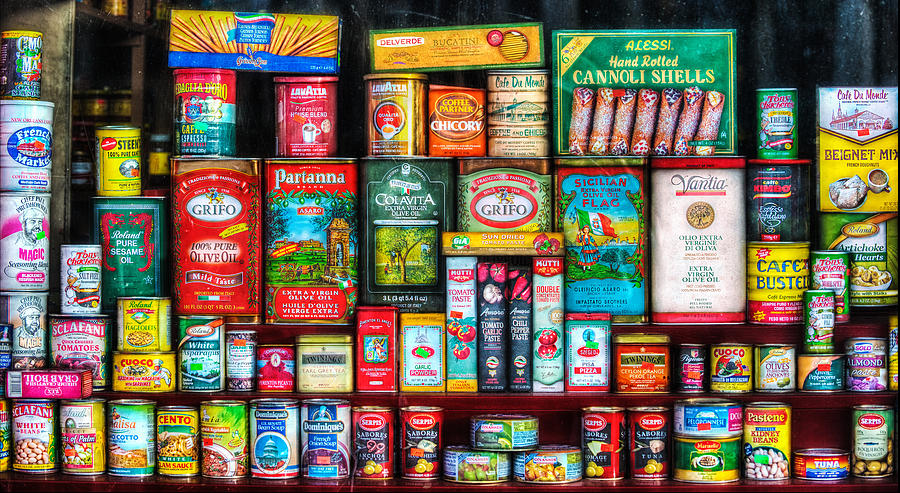 Central Grocery Photograph - Central Grocery Essentials by Brenda Bryant