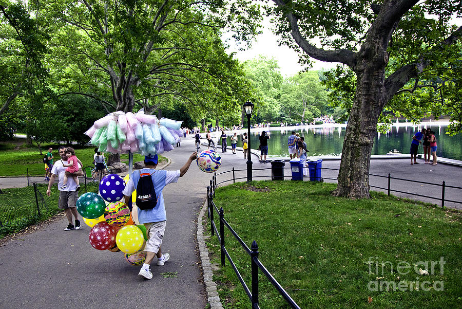 Balloons Photograph - Central Park Balloon Man by Madeline Ellis