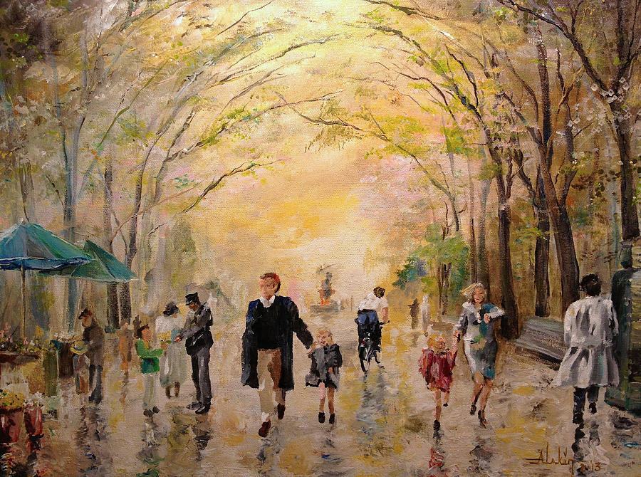 Central Park Early Spring Painting