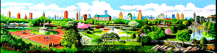Central park mural painting by robert ammon for Central park mural