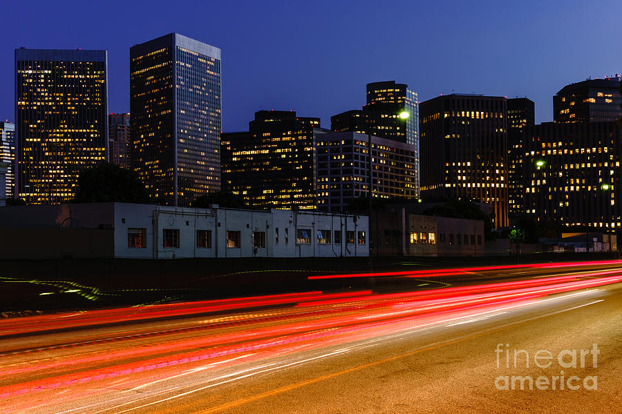 Century City Skyline At Night Photograph
