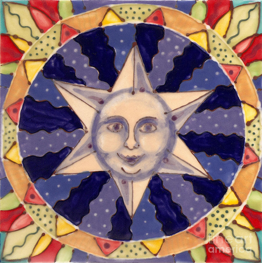 Ceramic Star Painting  - Ceramic Star Fine Art Print