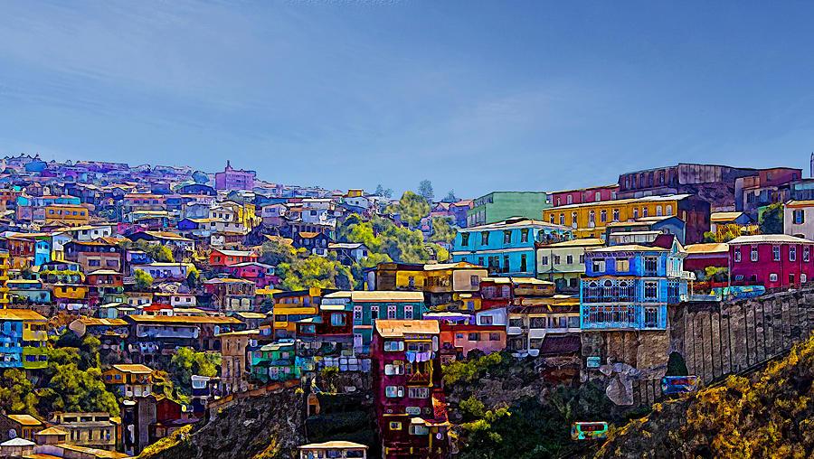 Cerro Artilleria Valparaiso Chile Photograph By Kurt Van