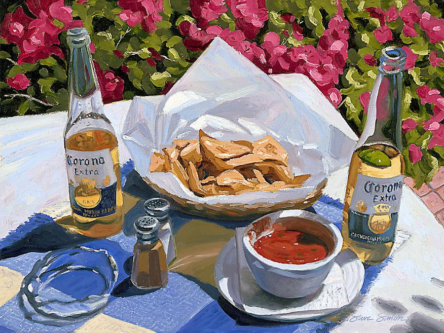 Cervezas Y Nachos - Coronas With Nachos Painting