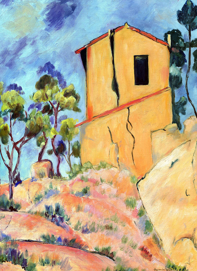 Cezannes House With Cracked Walls Painting