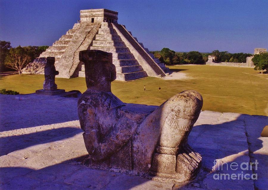 Chac Mool And Kukulkan Photograph  - Chac Mool And Kukulkan Fine Art Print