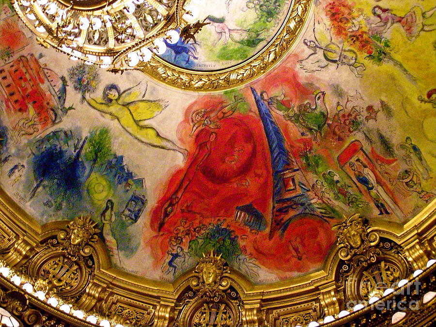 Chagall Illuminated Photograph By Carolyn Kami Loughlin